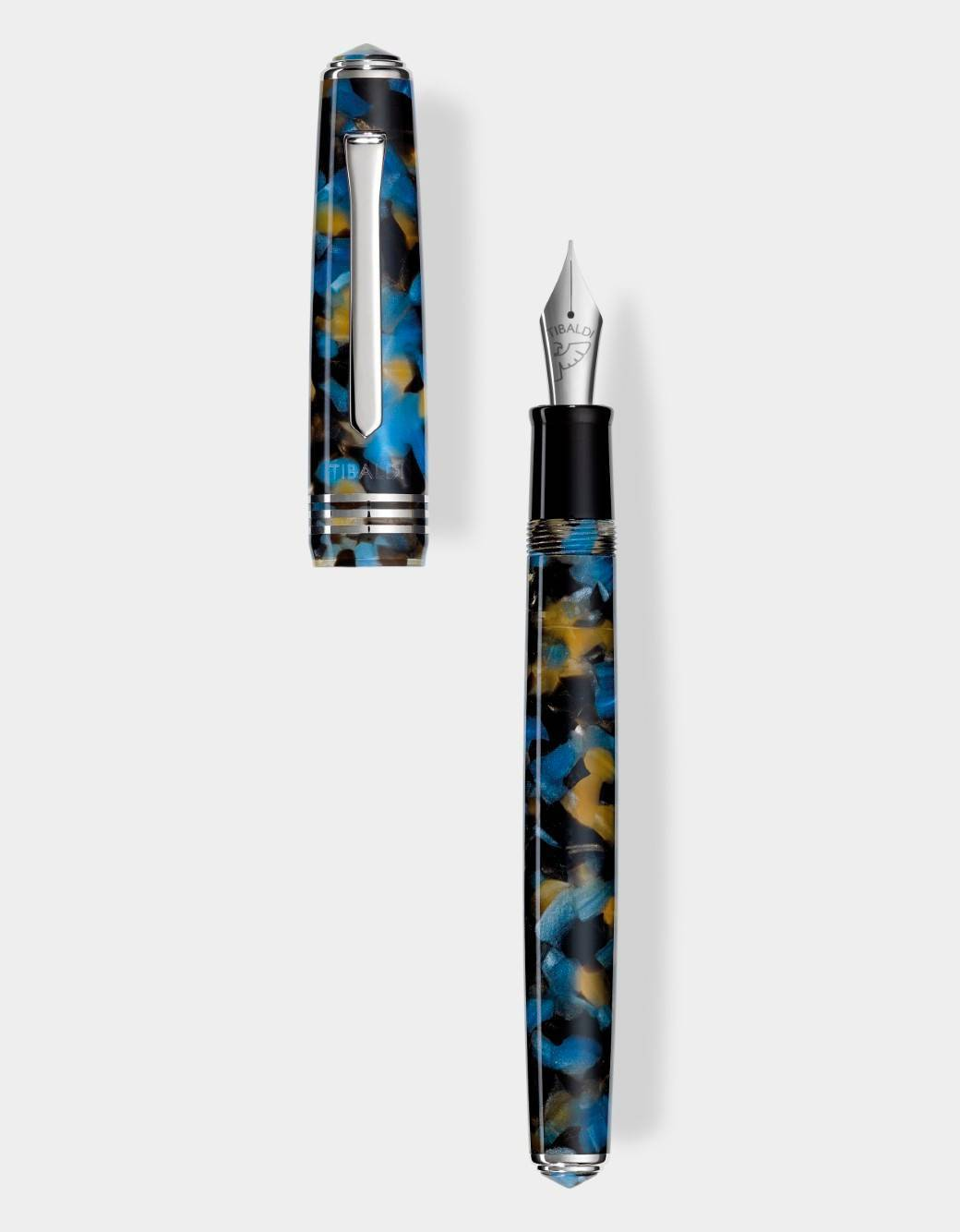Samarkand blue resin fountain pen