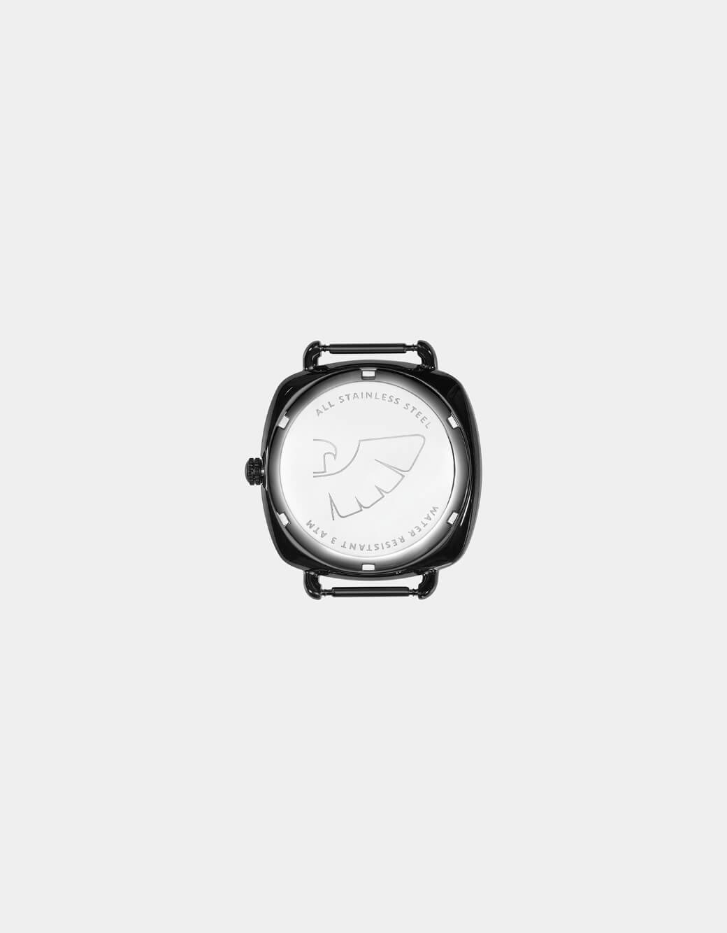 black dial leather strap ladies' watch
